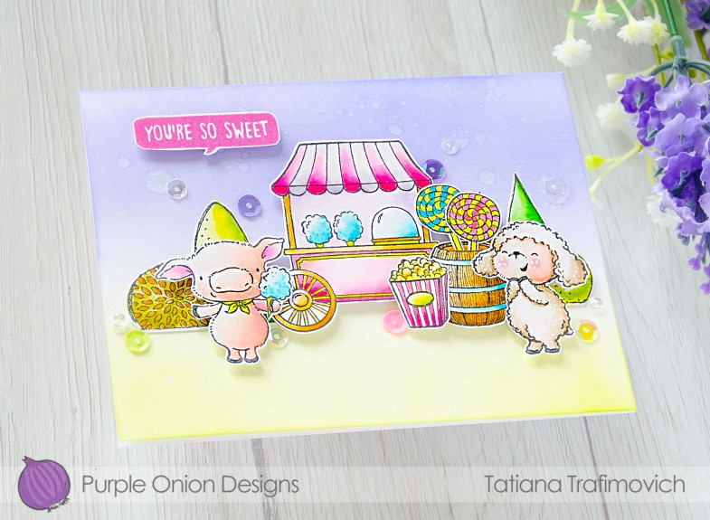You're So Sweet #handmade card by Tatiana Trafimovich #tatianacraftandart - stamps by Purple Onion Designs #purpleoniondesigns