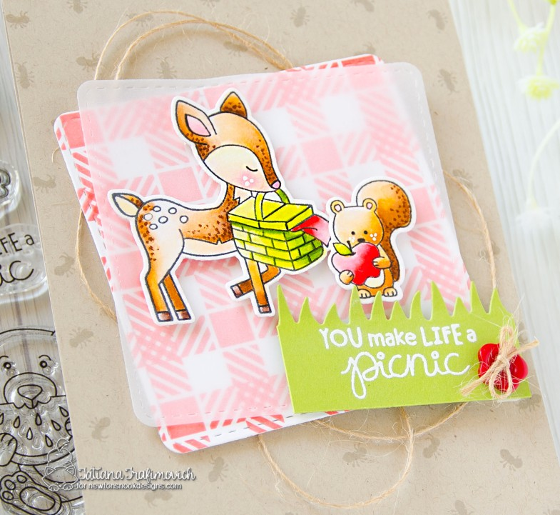 You Make Life A Picnic #handmade card by Tatiana Trafimovich #tatianacraftandart - Woodland Picnic stamp set by Newton's Nook Designs #newtonsnook