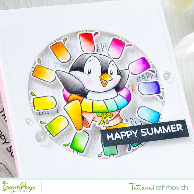 Happy Summer #handmade card by Tatiana Trafimovich #tatianacraftandart - Cool Treats stamp set by SugarPea Designs #sugarpeadesigns
