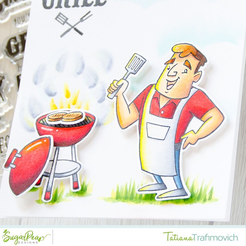 License To Grill #handmade card by Tatiana Trafimovich #tatianacraftandart - Grill Master stamp set by SugarPea Designs #sugarpeadesigns