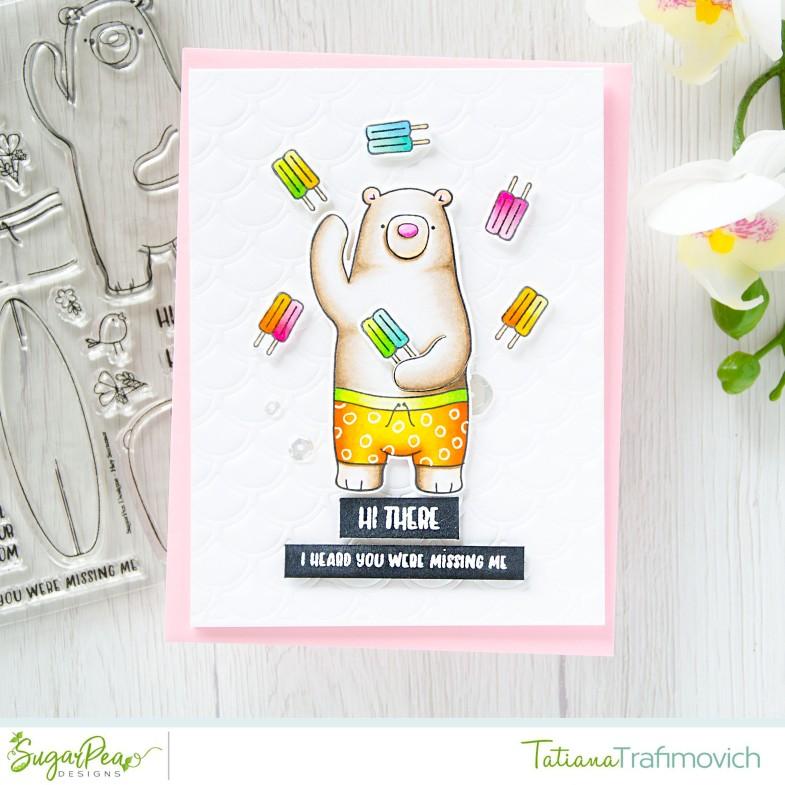Hi There #handmade card by Tatiana Trafimovich #tatianacraftandart - Hey Summer stamp set by SugarPea Designs #sugarpeadesigns