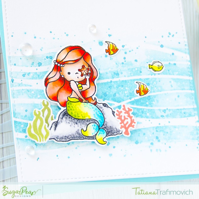 Stay Salty! #handmade card by Tatiana Trafimovich #tatianacraftandart - Mermaid Kisses stamp set by SugarPea Designs #sugarpeadesigns