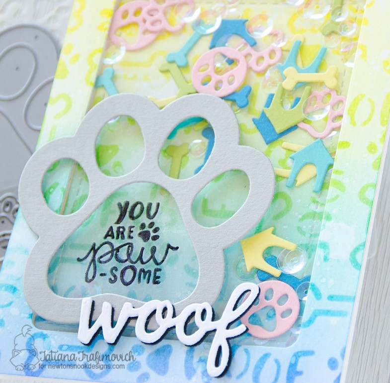 You're PAW-some #handmade card by Tatiana Trafimovich #tatianacraftandart - Say Woof stamp set by Newton's Nook Designs #newtonsnook
