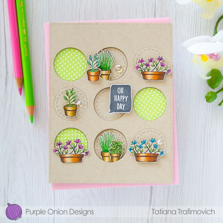 Oh Happy Day #handmade card by Tatiana Trafimovich #tatianacraftandart - stamps by Purple Onion Designs #purpleoniondesigns