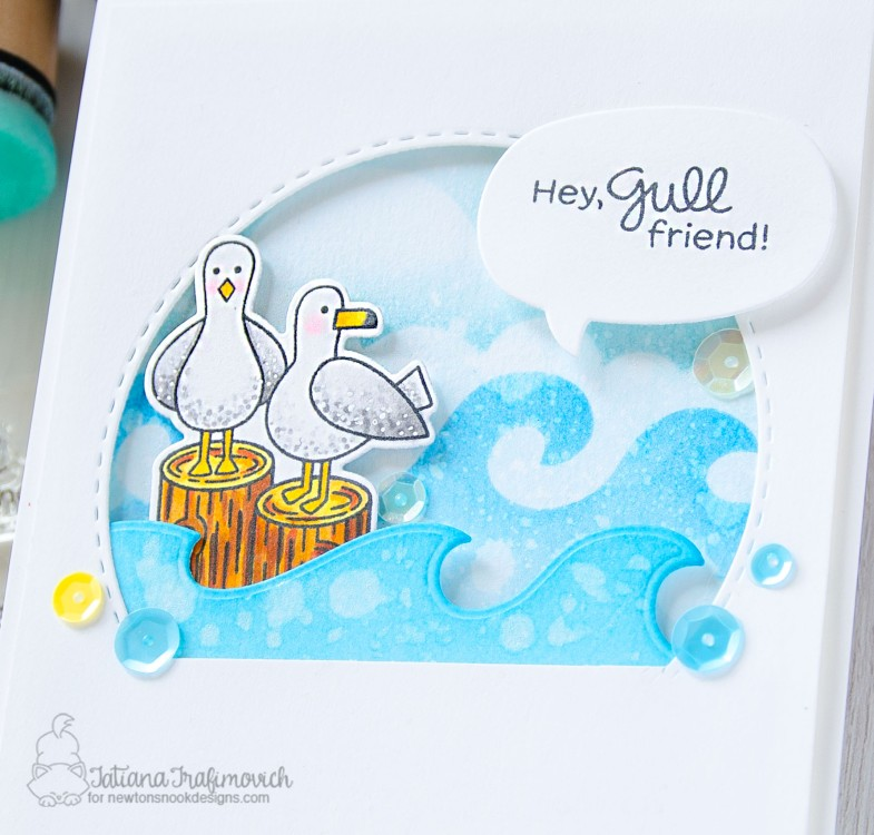 Hey, Gull Friend! #handmade card by Tatiana Trafimovich #tatianacraftandart - Gull Friends stamp set by Newton's Nook Designs #newtonsnook