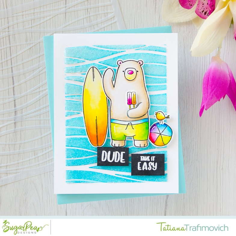 Dude! Take It Easy! #handmade card by Tatiana Trafimovich #tatianacraftandart - Hey Summer stamp set by SugarPea Designs #sugarpeadesigns