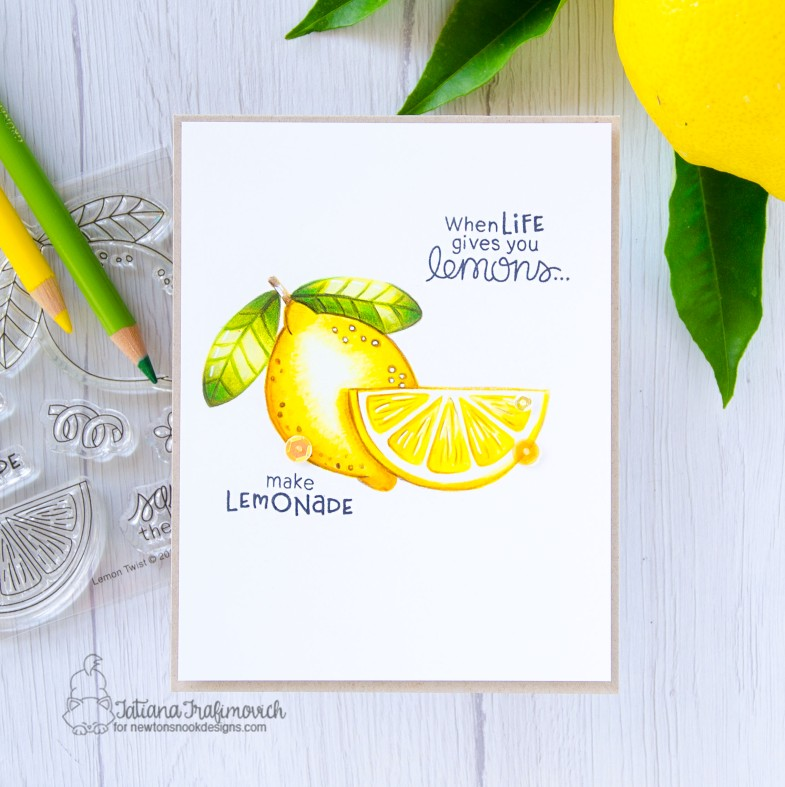 When Life Gives You Lemons #handmade card by Tatiana Trafimovich #tatianacraftandart - Lemon Twist stamp set by Newton's Nook Designs #newtonsnook