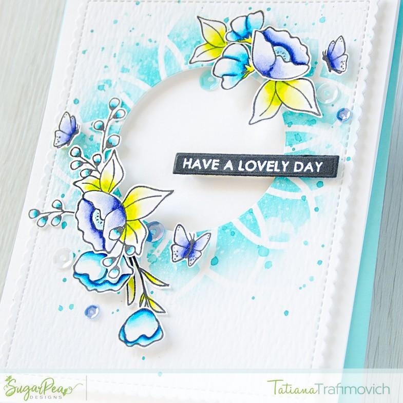 Have A Lovely Day #handmade card by Tatiana Trafimovich #tatianacraftandart - Meadow Motifs stamp set by SugarPea Designs #sugarpeadesigns