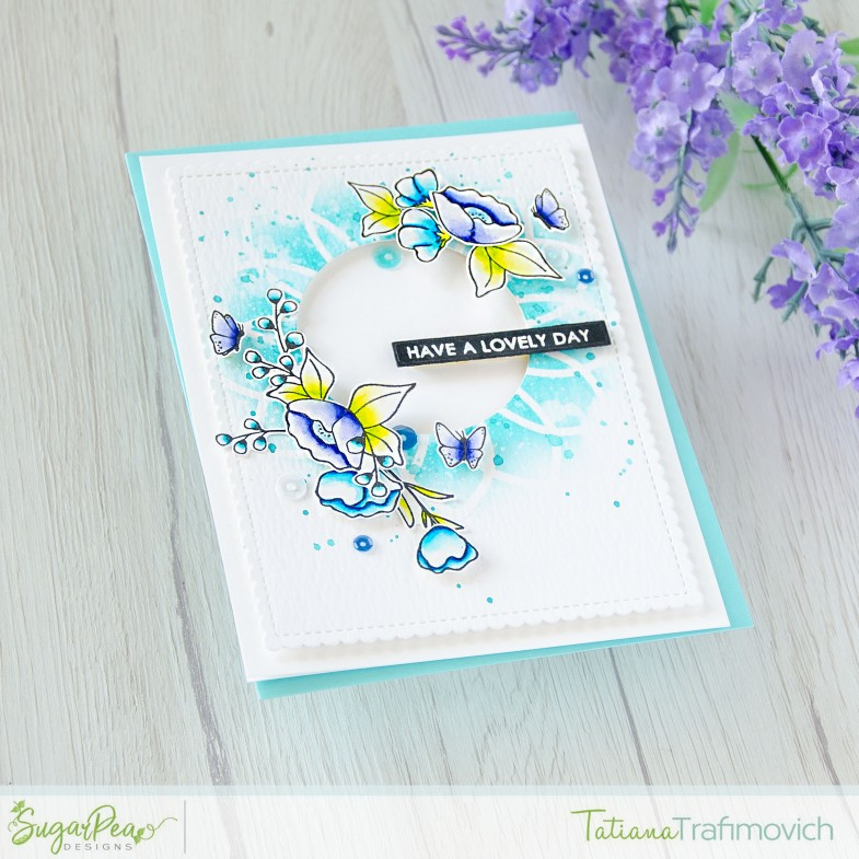 Have A Lovely Day #handmade card by Tatiana Trafimovich #tatianacraftandart - Meadow Motifs stamp set by SugarPea Designs #sugarpeadesigns