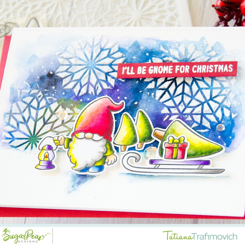 I'll Be Gnome For Christmas #handmade card by Tatiana Trafimovich #tatianacraftandart - Gnome For Christmas stamp set by SugarPea Designs #sugarpeadesigns