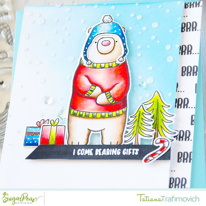 I Come Bearing Gifts #handmade card by Tatiana Trafimovich #tatianacraftandart - Hey Winter stamp set by SugarPea Designs #sugarpeadesigns