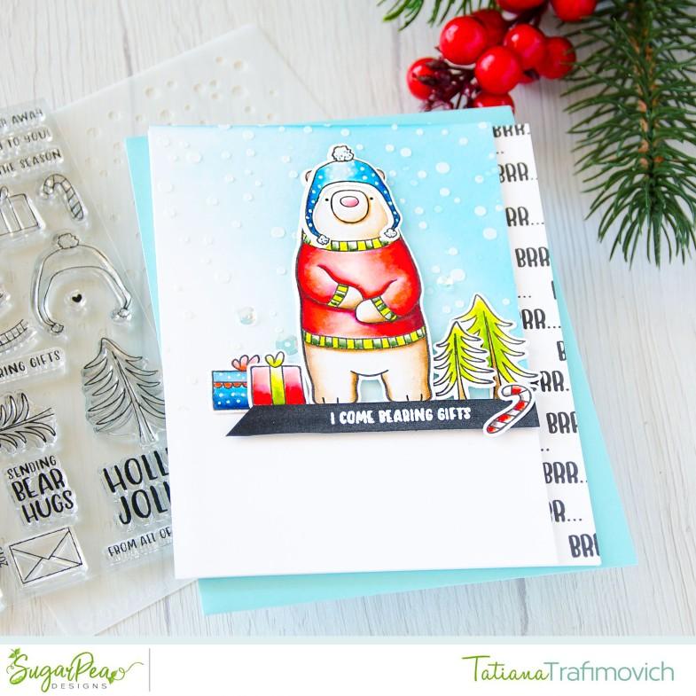 I Come Bearing Gifts #handmade card by Tatiana Trafimovich #tatianacraftandart - Hey Winter stamp set by SugarPea Designs #sugarpeadesigns