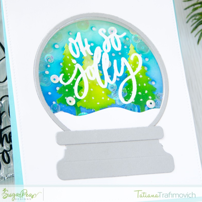Oh So Jolly #handmade card by Tatiana Trafimovich #tatianacraftandart - Oh So Jolly stamp set by SugarPea Designs #sugarpeadesigns