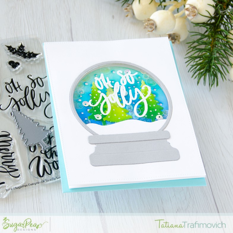Oh So Jolly #handmade card by Tatiana Trafimovich #tatianacraftandart - Oh So Jolly stamp set by SugarPea Designs #sugarpeadesigns