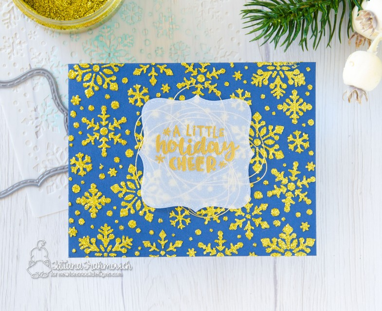 A Little Holiday Cheer #handmade card by Tatiana Trafimovich #tatianacraftandart - stamp, dies and stencil by Newton's Nook Designs #newtonsnook