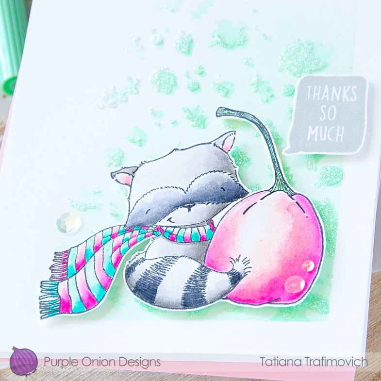 Thanks So Much #handmade card by Tatiana Trafimovich #tatianacraftandart - stamps by Purple Onion Designs #purpleoniondesigns