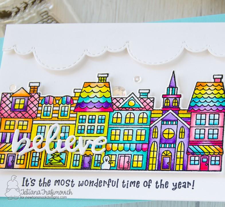 Believe #handmade card by Tatiana Trafimovich #tatianacraftandart - Main Street Christmas stamp set by Newton's Nook Designs #newtonsnook