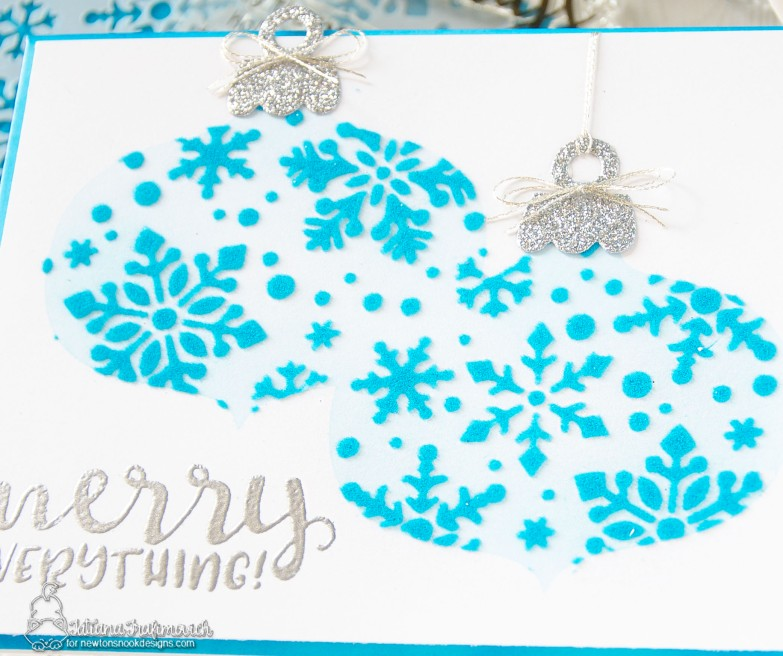 Merry Christmas #handmade card by Tatiana Trafimovich #tatianacraftandart - stamp, dies and stencil by Newton's Nook Designs #newtonsnook