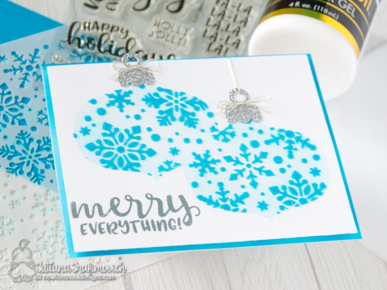 Merry Christmas #handmade card by Tatiana Trafimovich #tatianacraftandart - stamp, dies and stencil by Newton's Nook Designs #newtonsnook