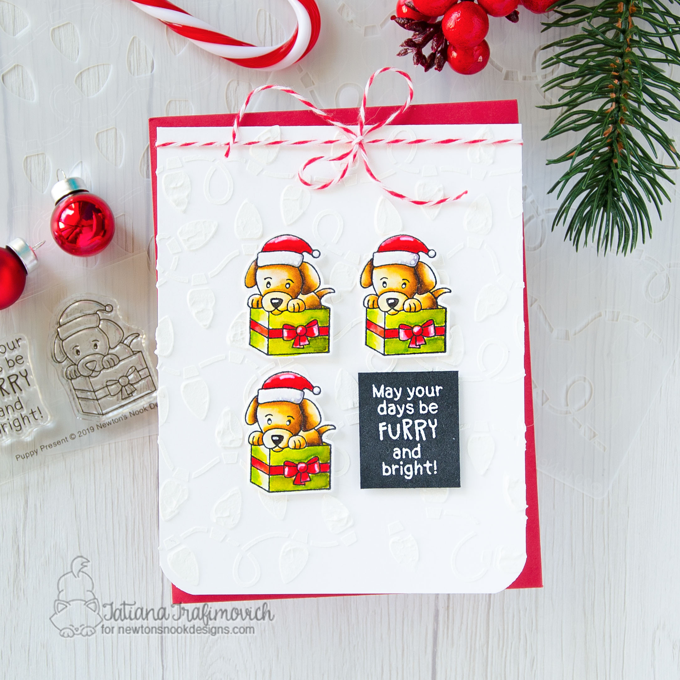 Newton S Nook Designs Holiday Reveal And Giveaway Day 4 Newton S Christmas Kittens Purr Fect Present And Puppy Present