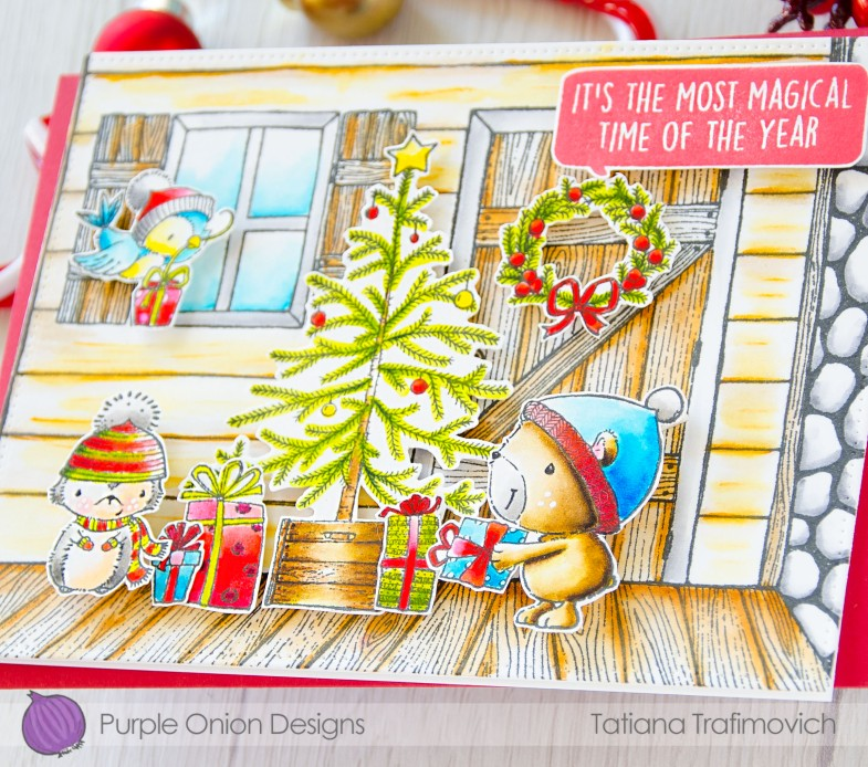 It's The Most Wonderful Time Of The Year #handmade card by Tatiana Trafimovich #tatianacraftandart - stamps by Purple Onion Designs #purpleoniondesigns