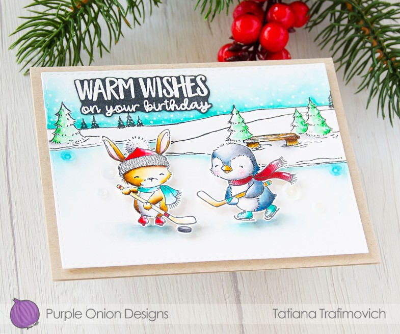 Warm Wishes On Your Birthday #handmade card by Tatiana Trafimovich #tatianacraftandart - stamps by Purple Onion Designs