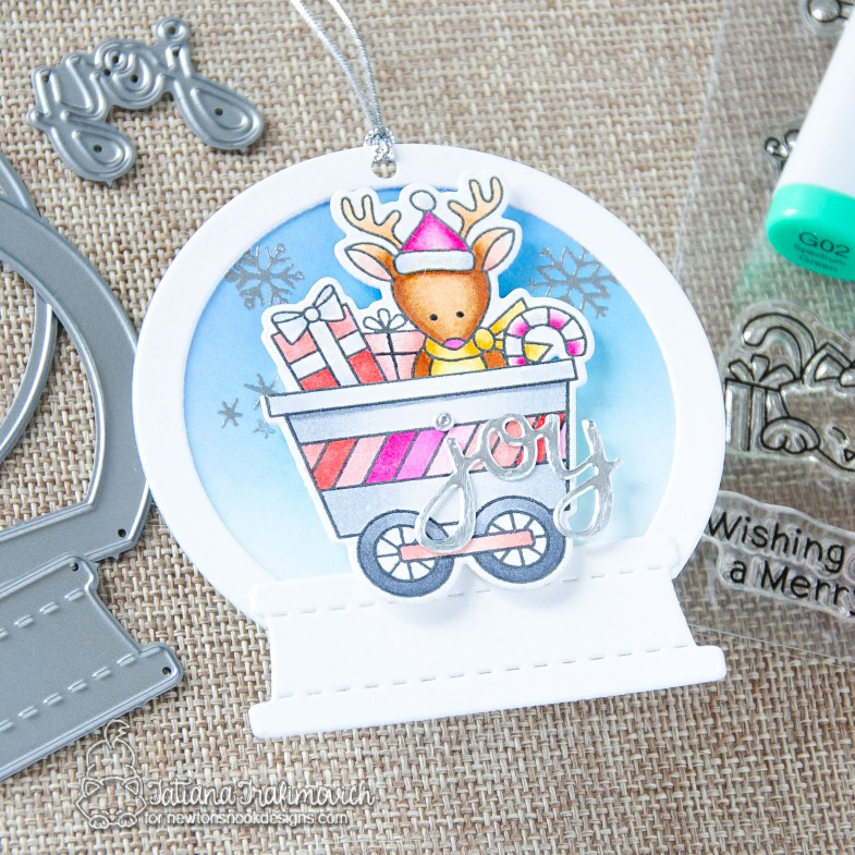 DIY Christmas Tags #handmade card by Tatiana Trafimovich #tatianacraftandart - All Aboard For Christmas stamp set by Newton's Nook Designs #newtonsnook
