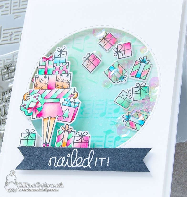 Nailed It #handmade card by Tatiana Trafimovich #tatianacraftandart - Christmas Haul stamp set by Newton's Nook Designs #newtonsnook