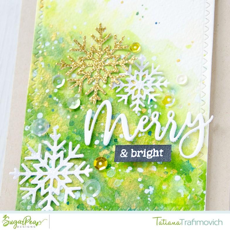 Merry & Bright #handmade card by Tatiana Trafimovich #tatianacraftandart - Flurry Of Warm Wishes stamp set by SugarPea Designs #sugarpeadesigns