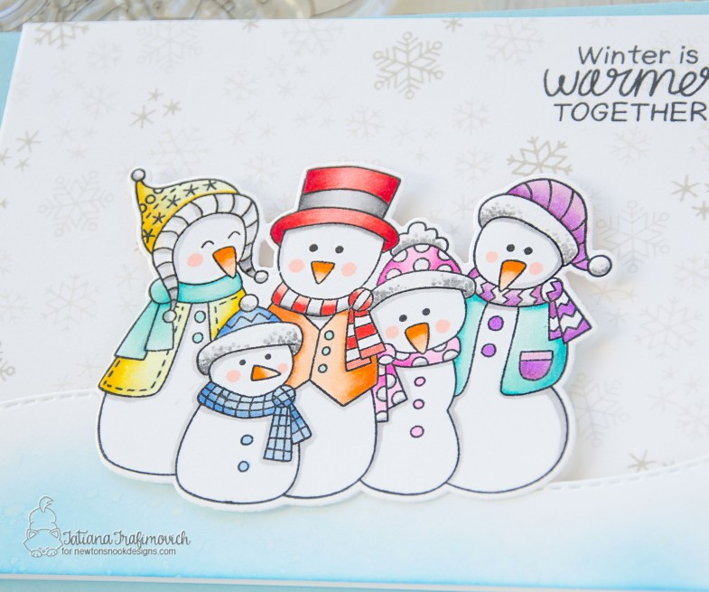 Winter Is Warmer Together #handmade card by Tatiana Trafimovich #tatianacraftandart - Frosty Folks stamp set by Newton's Nook Designs #newtonsnook
