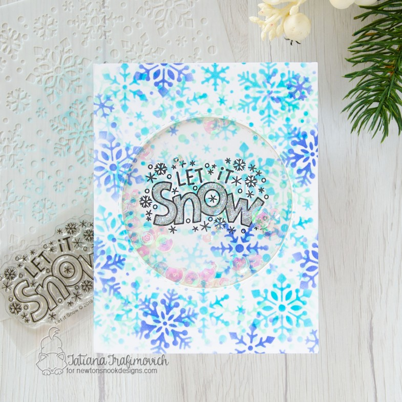 Let It Snow #handmade card by Tatiana Trafimovich #tatianacraftandart - Let It Snow stamp set by Newton's Nook Designs #newtonsnook