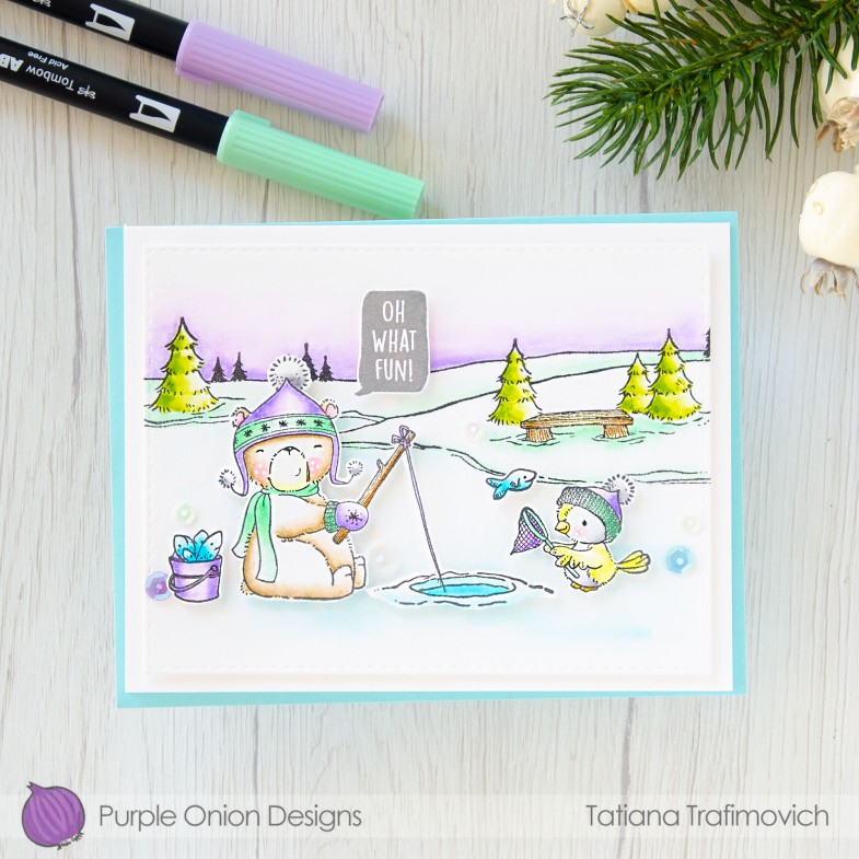 Oh What Fun #handmade card by Tatiana Trafimovich #tatianacraftandart - stamps by Purple Onion Designs