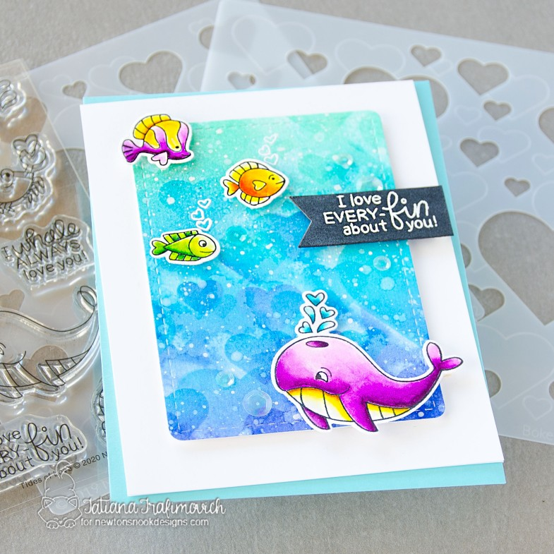 I Love Every-FIN About You #handmade card by Tatiana Trafimovich #tatianacraftandart - Tides of Love stamp set by Newton's Nook Designs #newtonsnook