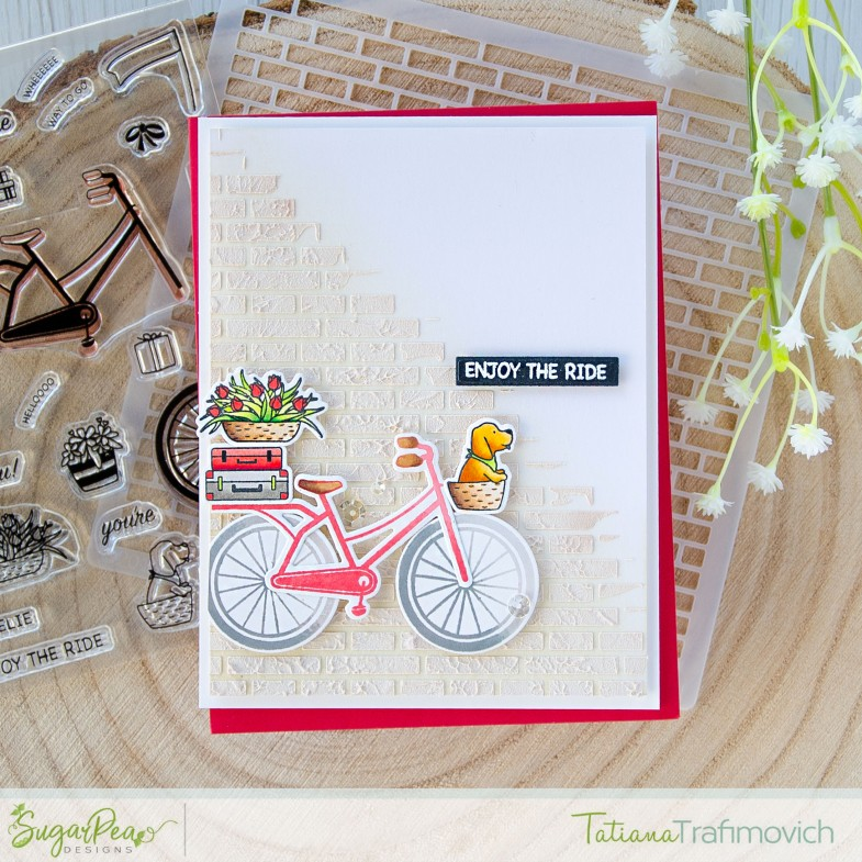 Enjoy The Ride #handmade card by Tatiana Trafimovich #tatianacraftandart - Wheelie Amazing stamp set by SugarPea Designs #sugarpeadesigns