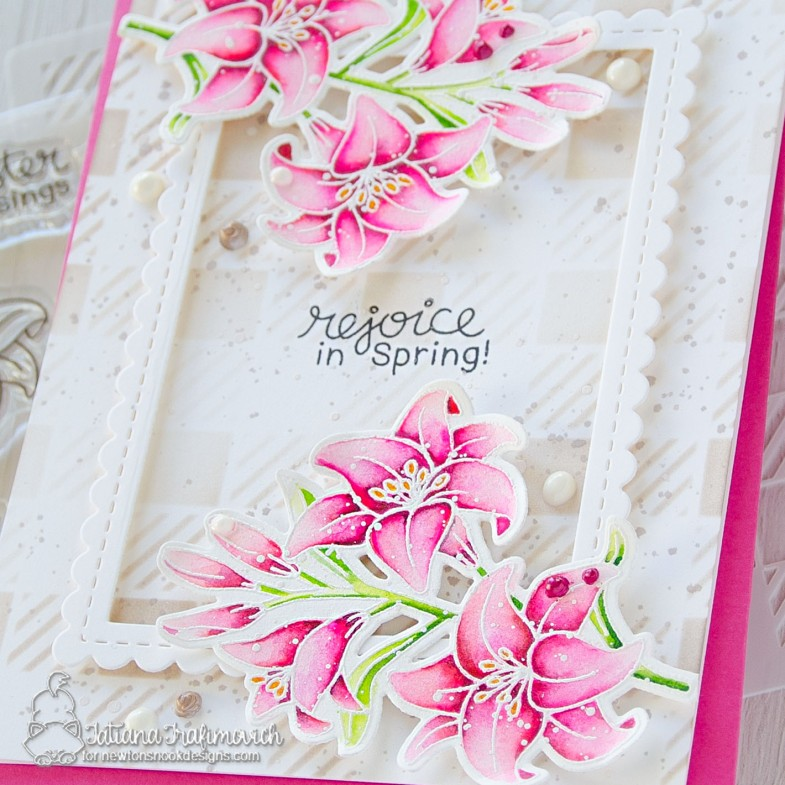 Rejoice In Spring #handmade card by Tatiana Trafimovich #tatianacraftandart - Easter Lily stamp set by Newton's Nook Designs #newtonsnook