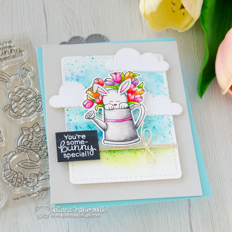 You're Some-BUNNY Special #handmade card by Tatiana Trafimovich #tatianacraftandart - Hop Into Spring stamp set by Newton's Nook Designs #newtonsnook