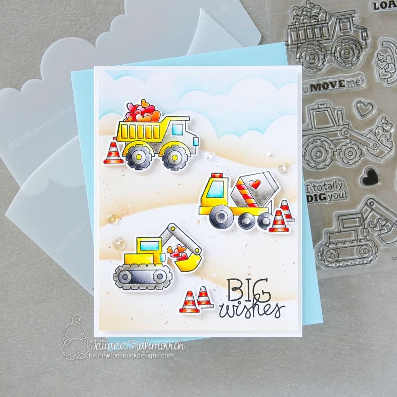 BIG Wishes #handmade card by Tatiana Trafimovich #tatianacraftandart - Love Quarry stamp set by Newton's Nook Designs #newtonsnook