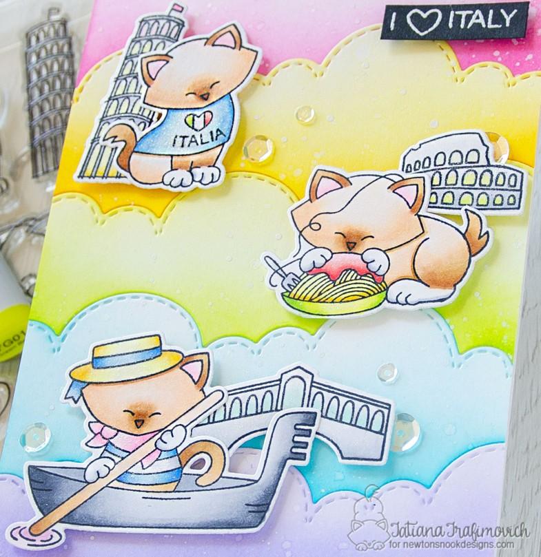 I Love Italy #handmade card by Tatiana Trafimovich #tatianacraftandart - Newton Dreams of Italy stamp set by Newton's Nook Designs #newtonsnook