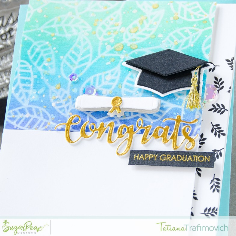 Happy Graduation #handmade card by Tatiana Trafimovich #tatianacraftandart - For The Graduate stamp set by SugarPea Designs #sugarpeadesigns