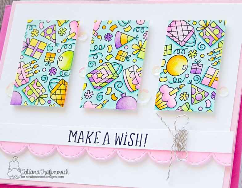 Make A Wish #handmade card by Tatiana Trafimovich #tatianacraftandart - Floral Roundabout stamp set by Newton's Nook Designs #newtonsnook