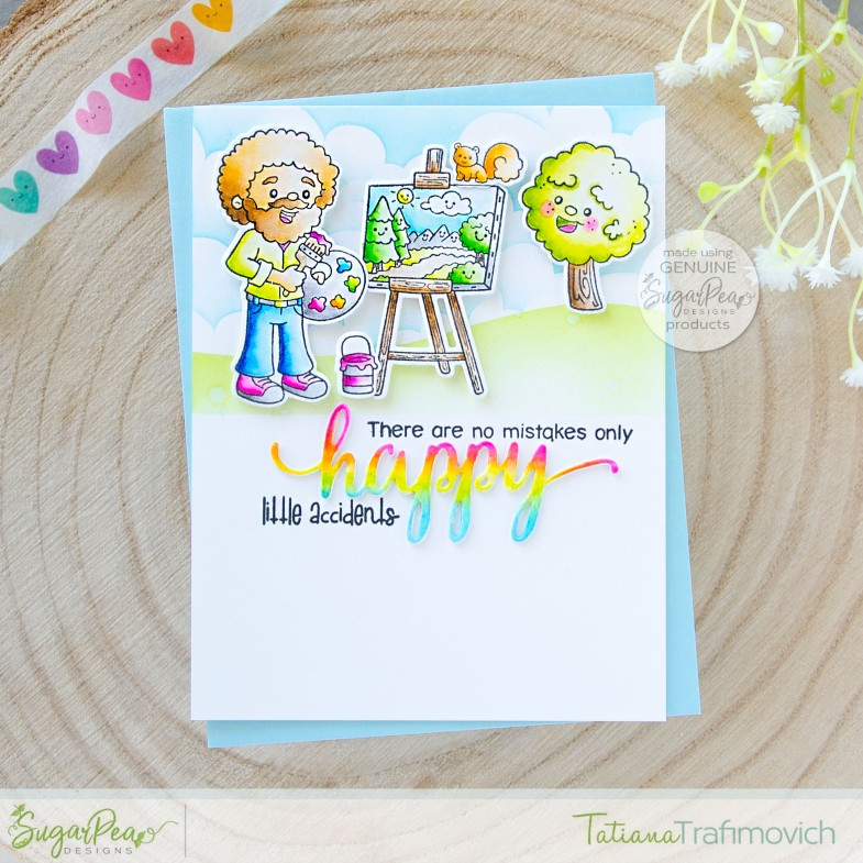 Happy Little Accedents #handmade card by Tatiana Trafimovich #tatianacraftandart - Happy Little Trees stamp set by SugarPea Designs #sugarpeadesigns