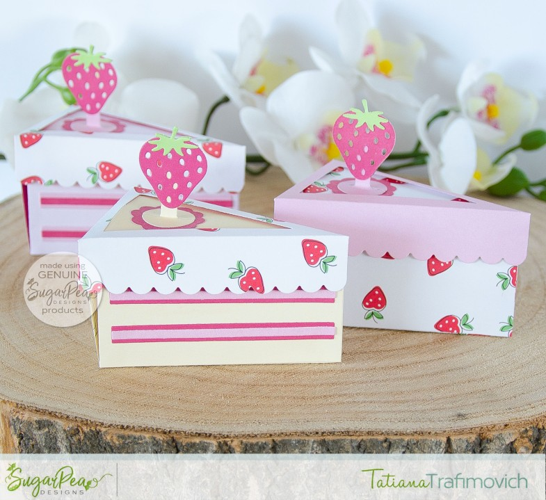 Piece of Cake 3D Boxes #handmade card by Tatiana Trafimovich #tatianacraftandart - Piece of Cake SugarCut by SugarPea Designs #sugarpeadesigns