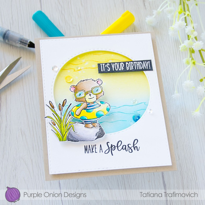 Make A Splash #handmade card by Tatiana Trafimovich #tatianacraftandart - stamps by Purple Onion Designs #purpleoniondesigns