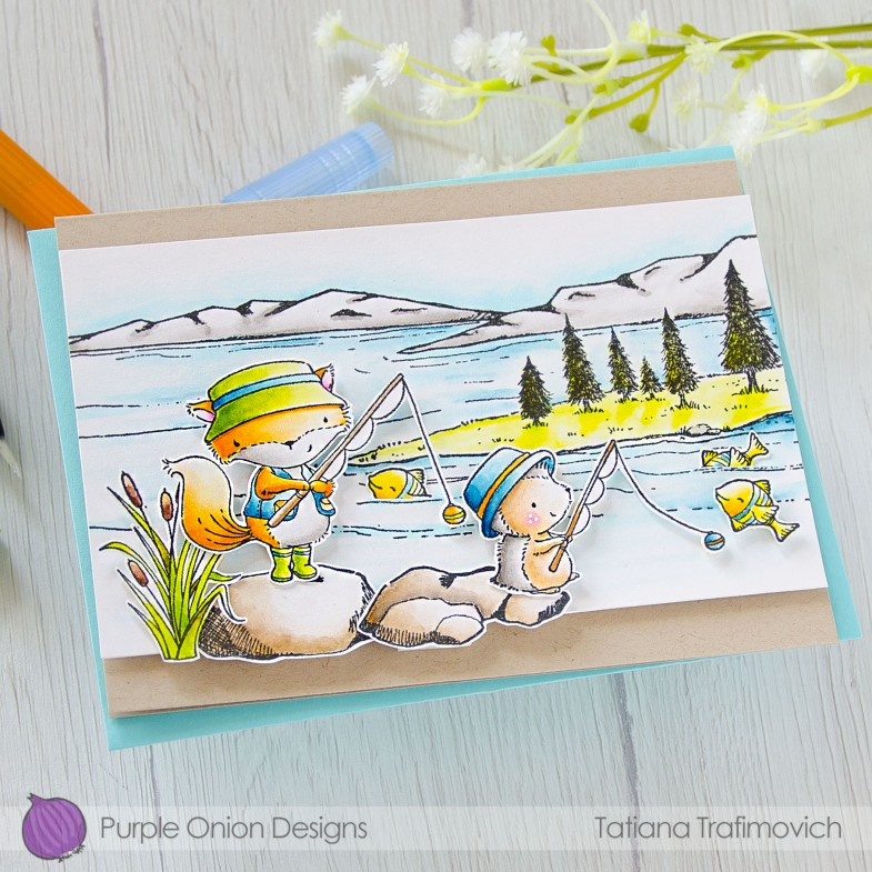 Have A Bright Sunshiny Day #handmade card by Tatiana Trafimovich #tatianacraftandart - stamps by Purple Onion Designs #purpleoniondesigns