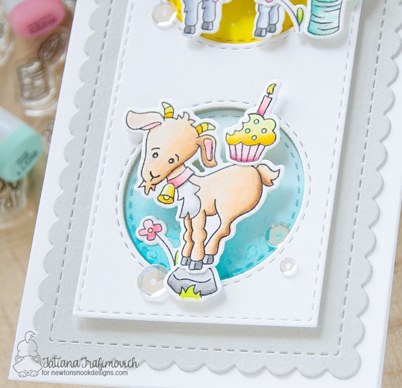 Birthdays Aren't So Baaaaad! #handmade card by Tatiana Trafimovich #tatianacraftandart - Bleat stamp set by Newton's Nook Designs #newtonsnook