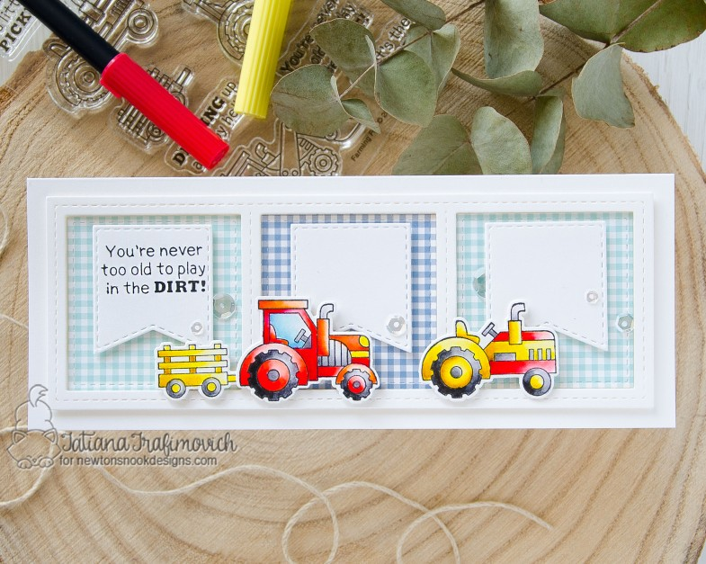 You Are Never Too Old #handmade card by Tatiana Trafimovich #tatianacraftandart - Farming Fun stamp set by Newton's Nook Designs #newtonsnook