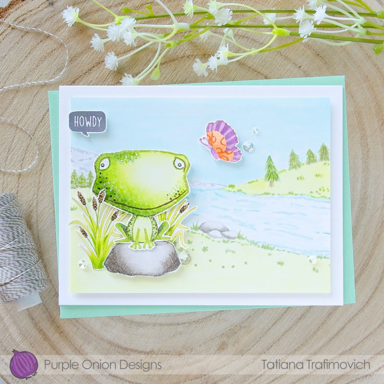 Howdy #handmade card by Tatiana Trafimovich #tatianacraftandart - stamps by Purple Onion Designs #purpleoniondesigns