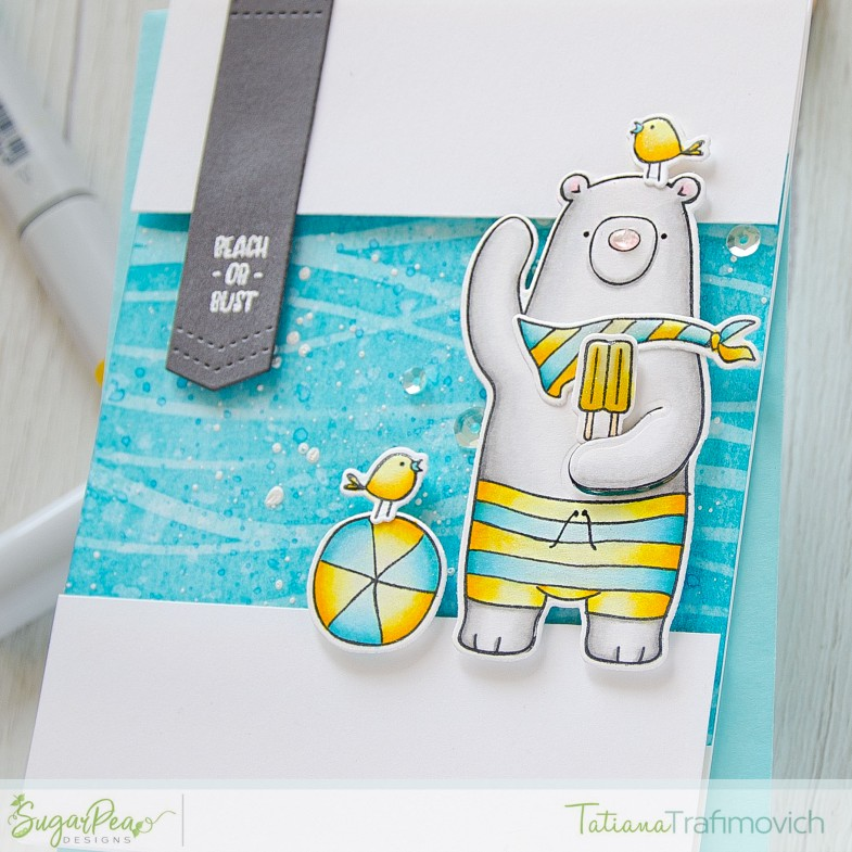 Beach Or Bust #handmade card by Tatiana Trafimovich #tatianacraftandart - Hey Summer stamp set by SugarPea Designs #sugarpeadesigns