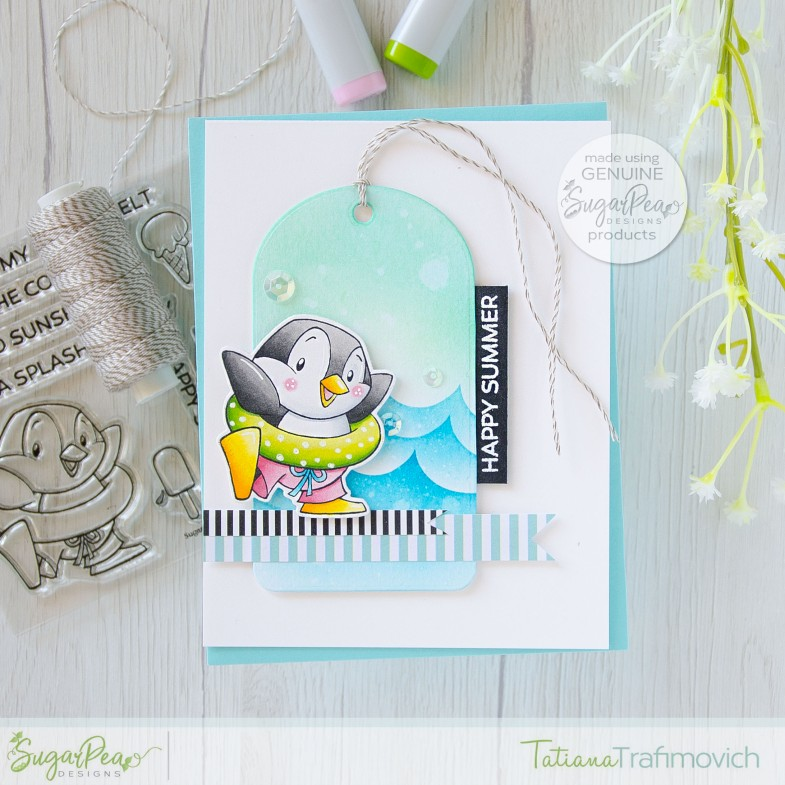 Happy Summer #handmade card by Tatiana Trafimovich #tatianacraftandart - Sweet Treats stamp set by SugarPea Designs #sugarpeadesigns