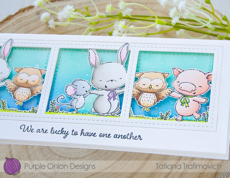 We Are Lucky To Have One Another #handmade card by Tatiana Trafimovich #tatianacraftandart - Together stamp set by Purple Onion Designs #purpleoniondesigns